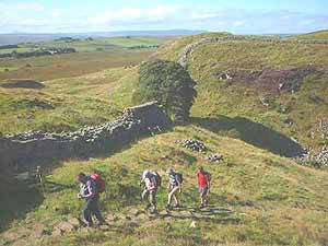 UK walking holidays, hiking vacations, archaeology tours Hadrian's Wall, Northumberland, Haltwhistle England